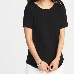 NWT Old Navy Luxe Black Tee